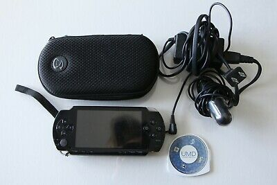 Sony PlayStation Portable PSP, carrying case, Sims 2 game, Chargers - USED
