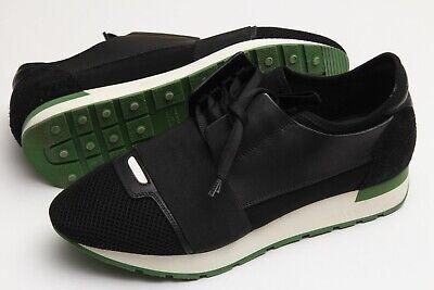 Balenciaga 'Race Runner' Trainers Black Green White Men's Sneakers Sz 40/ US 7
