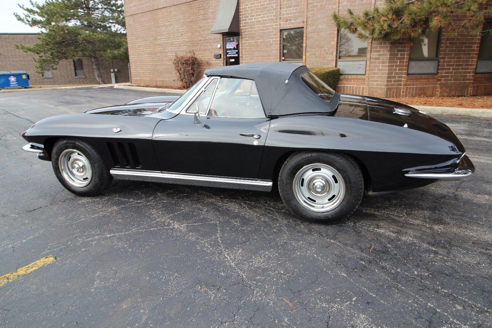 1966 Black Chevrolet Corvette   | C2 Corvette Photo 1