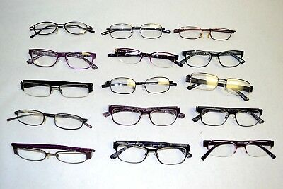 Lot of 15 Foster Grant Eyeglasses - Assorted Styles & Colors Women's