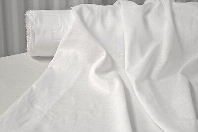 Bright White Cotton Lawn Fabric 100% Cotton 56