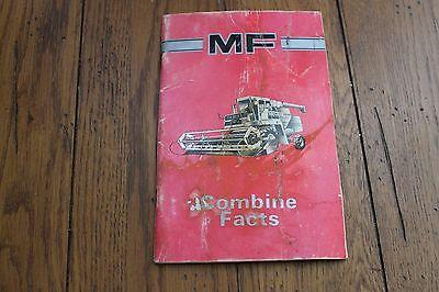 Original Massey Ferguson Mf Combine Facts Sales Specs Handbook Manual
