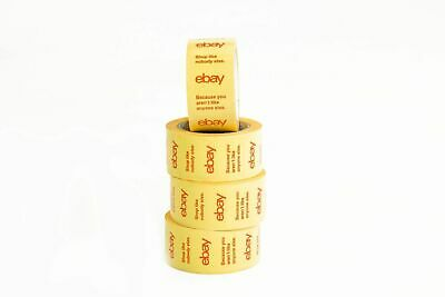 6 Rolls Of Official Ebay Branded Yellow Tape Packing Shipping Supplies 75 X 2