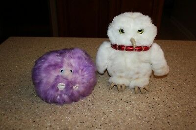 Harry Potter 8  Hedwig Owl   5  Pygmy Puff Purple Plush