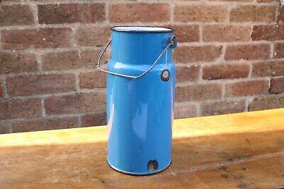 Vintage Blue Enamel Churn, Decorative, Display, Vase #8
