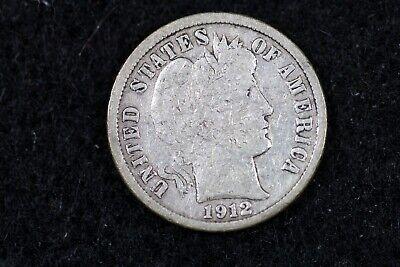 ESTATE FIND 1912 - D Barber Dime J00701 - $3.00