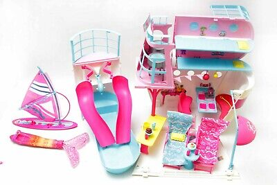 Barbie Sisters Cruise Ship Mattel 2011 With Slide Pool Lounge Chairs & Furniture