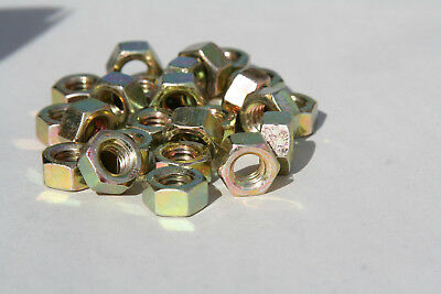 20 PIECES  1/2-13  L9  THICK HEX NUTS ZINC YELLOW       INCORRECT PICTURE