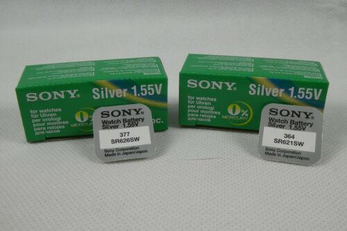 Sony Batterie Knopfzellen für Uhren Sony V364 V377 364 377 SR626SW SR621SW