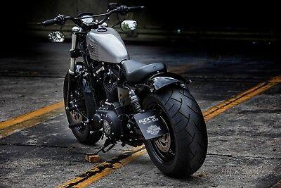 """Rick's Harley-Davidson Sportster Lenker """"DIRT TRACK"""" schwarz matt mit TÜV"""