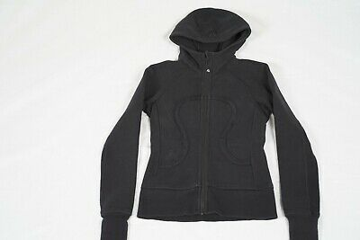 Women's Lululemon Define Running Size 2 Black Full Zip Up Yoga Exercise Jacket
