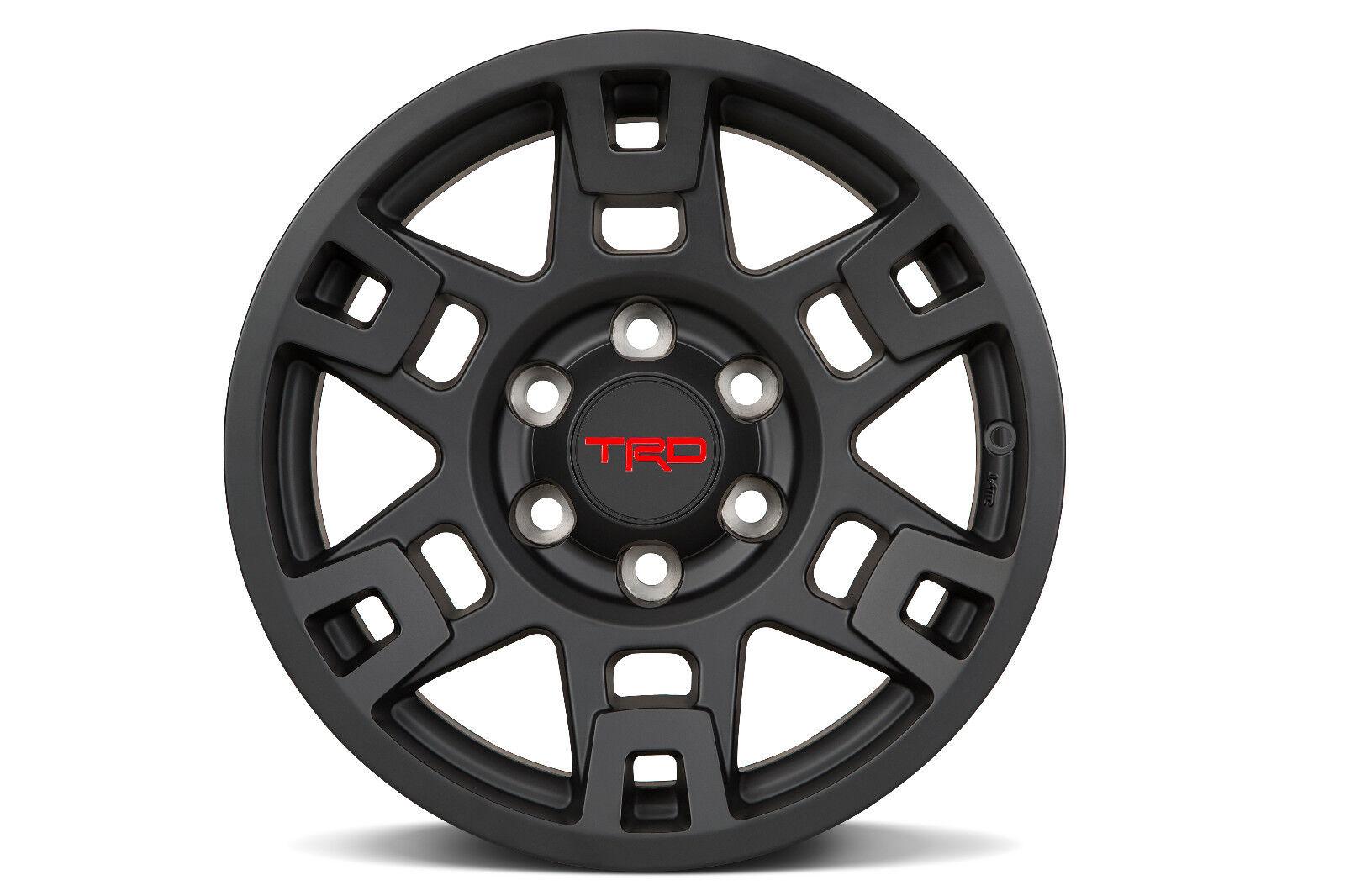 17 inch TRD wheels Matte Black. | Tacoma World