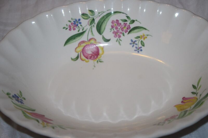 "W.S. GEORGE ""BOLERO"" SET OF (1) OVAL SERVING VEGETABLE BOWL 9.5"""
