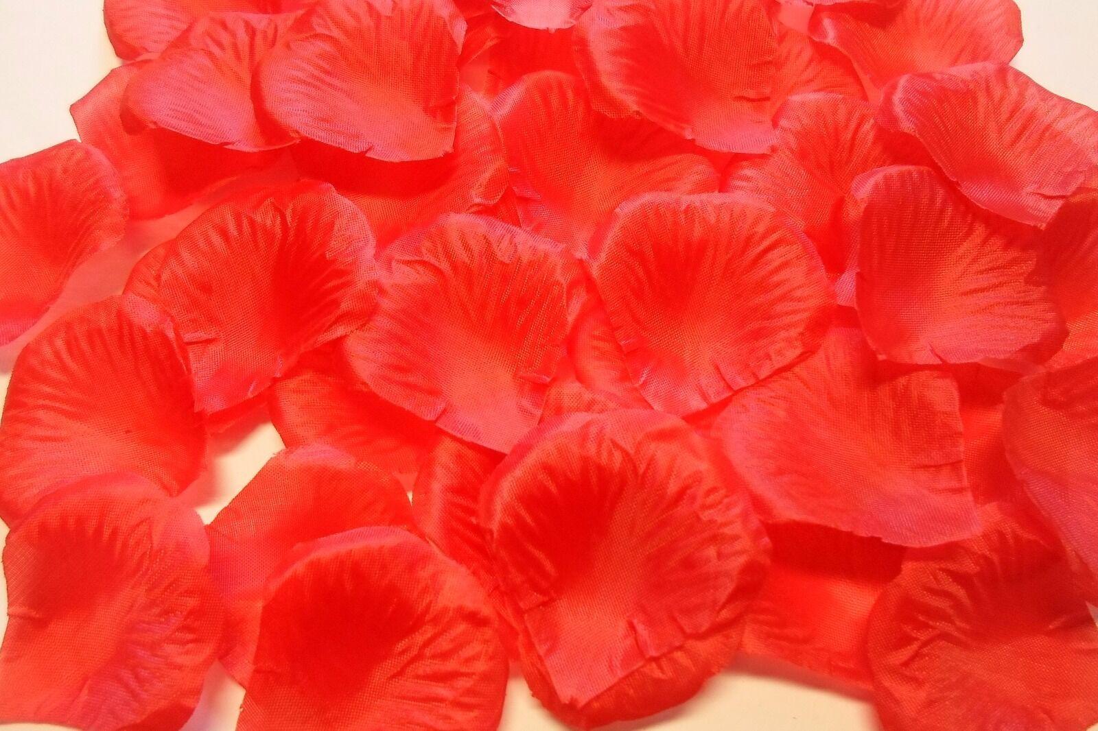 *100* PETALI DI ROSA TESSUTO CM 5 COLORE ROSSO PER LAUREA decorare