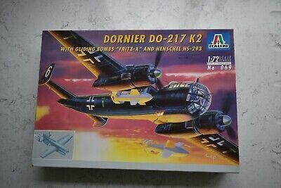 "Italeri 1/72 Dornier DO-217 K2 with gliding bombs ""Fritz X"" and Henschel HS-293"