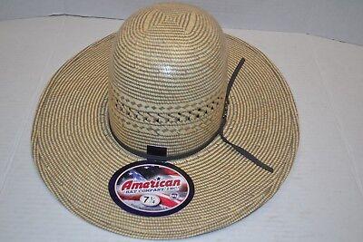 AMERICAN HAT COMPANY COWBOY HAT COOL HAND LUKE STRAW HAT 3200 OPENED UNSHAPED Straw Cowboy Hat Hats