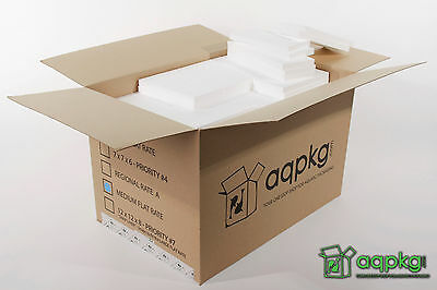 20 Styrofoam Liners - Fits Medium Flat Rate - Insulated Shipping Box - Wall