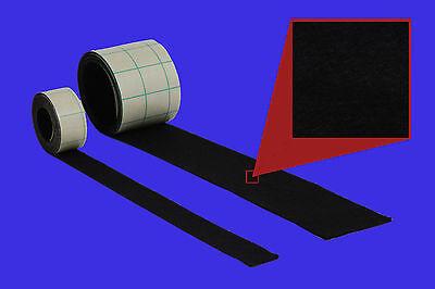 2 Meter Filzband, 10 mm breit,1 mm stark, schwarz, Stück, selbstklebender Filz