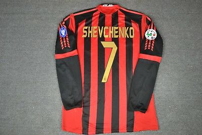 - AC MILAN 2005-06 HOME RETRO SHIRT LS ZAFIRA, SHEVCHENKO, INZAGHI, Size S M L XL