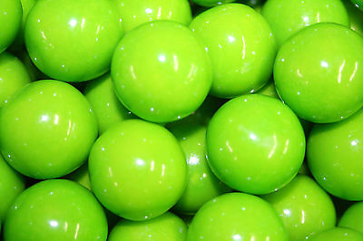 GUMBALLS GREEN APPLE BUBBLE GUM 25mm or 1 inch (285 count), 5LBS
