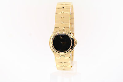 940dd1a5b48 Ladies Movado 0604726 SPORTS EDITION SE Gold-tone Stainless Black Dial Watch