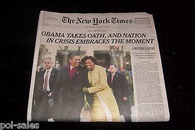 New York Times President Barack Obama Inaugration Day Newpaper January 21   2009