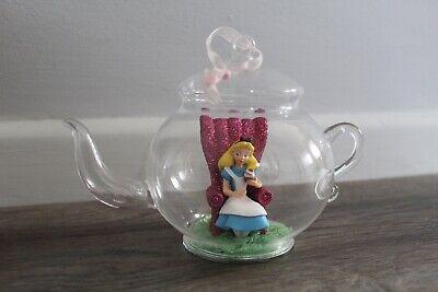 Disneyland Paris Alice in Wonderland Teapot Glass Bauble