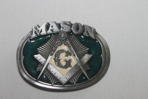 Vintage Masonic Mason Belt Buckle CJ