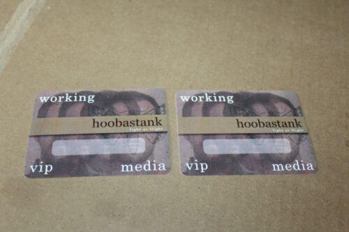 Hoobastank  - 2 x Backstage Pass unused  -   - FREE POSTAGE