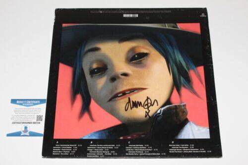 GORILLAZ DAMON ALBARN SIGNED HUMANZ ALBUM VINYL RECORD LP BECKETT COA BACK COVER