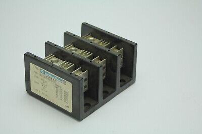 Marathon 1433555 600v Power Distribution Terminal Block 3-pos 14-4awg Used