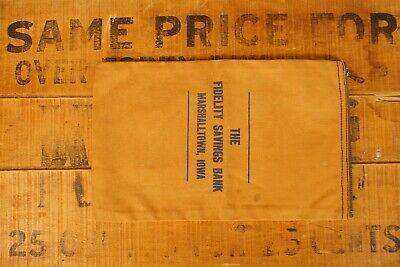1930s Handbags and Purses Fashion 1920's-1930's Canvas Fidelity Savings Bank Bag Marshalltown Iowa $28.00 AT vintagedancer.com