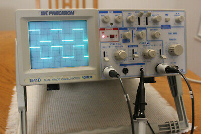 Bk Precision Model 1541d Oscilloscope 40mhz With Probes And Pwr Cord