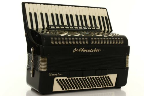 Accordion Weltmeister Caprice 120 Bass LMMH Akkordeon Fisarmonica Black + Case