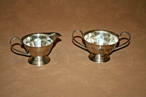 Vintage Ornate Sheffield English Silverplate Cream & Sugar Set