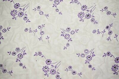 Embroidered Organza Lavender Sheer Dress Apparel Veil Fabric Suede Floral