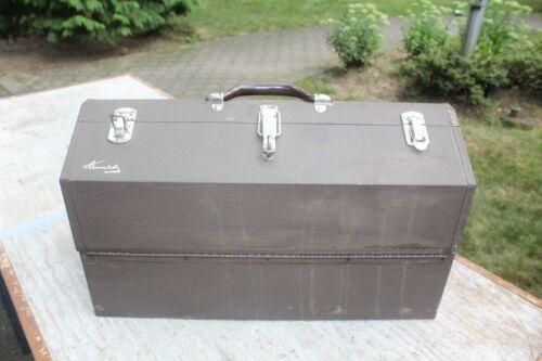 KENNEDY #1022 TOOL BOX CANTILEVER MECHANIC 4 TRAY STEEL, BROWN, 22x10x13 NICE!