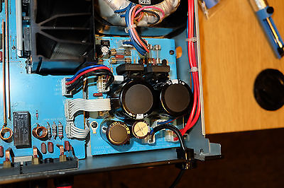 After replacement of all Capacitors the Power Supply Circuit Board has back where it should be...