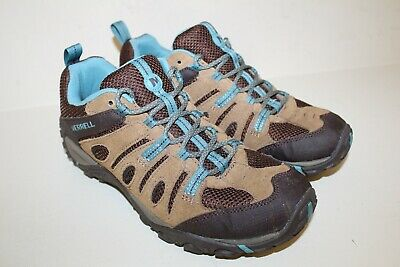 Merrell Womens Oxford Hiking Sneaker Shoes Sz 10 / 41 Brown Suede Lace Up Suede Womens Oxford