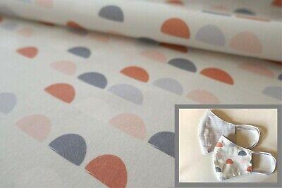 50cm Baumwollstoff Kinder Grafisches Muster Meterware neu Stoff Mundschutz nähen