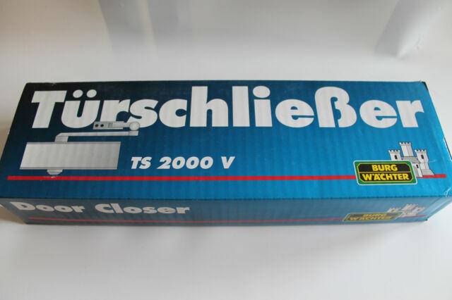 Türschließer Flachform - Türschließer Burg Wächter TS 2000 V weiß