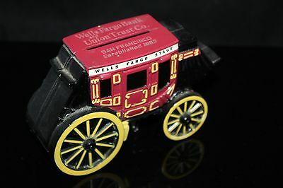 1998 Wells Fargo Bank   Union Trust Co  Cast Iron Stage Coach Coin   Piggy Bank