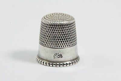 vintage sterling silver thimble marked