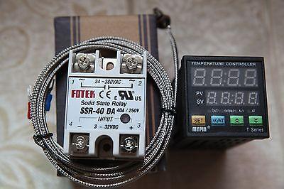 90-265v Digital Fc Pid Temperature Controller Ta4-ssr2m K Sensor40a Da Ssr