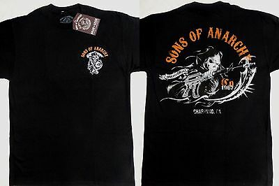 Sons Of Anarchy Soa Charging Reaper Tv Show Reaper T Shirt
