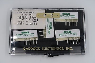 Lot Of 4 Caddock 1776-10 Precision Decade Resistor Voltage Dividers New