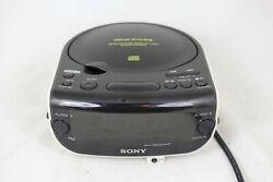 Sony Dream Machine ICF-CD815 Am Fm Radio, Clock, Cd Alarm Aux Input CD-R CD-RW