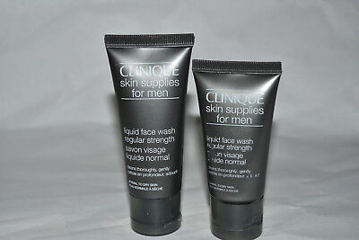 Men Liquid Face Wash - 2x Clinique for Men skin supplies liquid face wash 1.3 + 1 oz