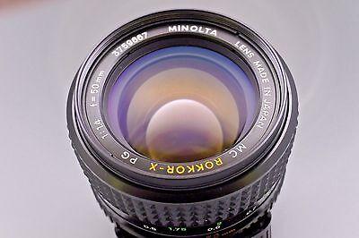 Minolta Mc Rokkor X Pg 50Mm F 1 4 Mf Prime Lens   Md Mount Lens