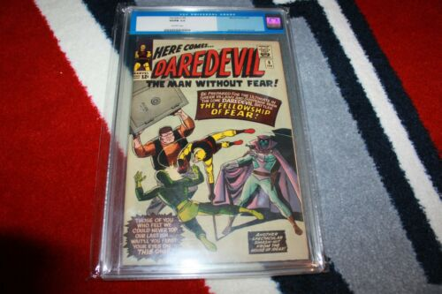 Daredevil 6 CGC 5.0 Old Label 1st Appearance Mr Fear